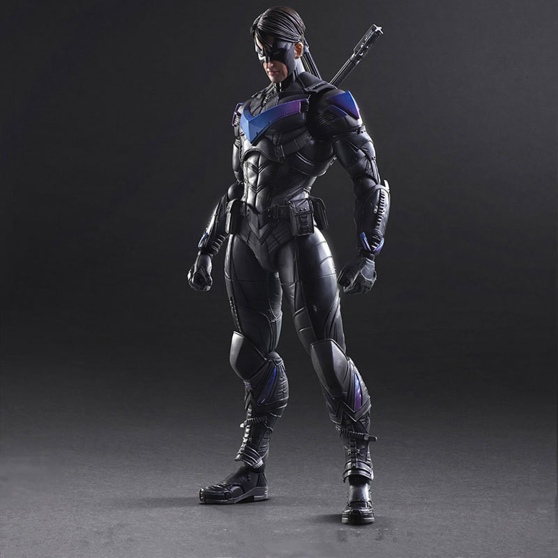 Huong Movie Figure 25 CM  Batman Arkham Knight NO.6 NIGHTWING PVC Action Figure Collectible Model Toy