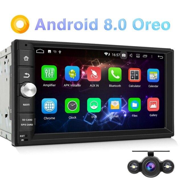 Pumpkin Octa-core 2G RAM 32G ROM 2 Din 7''Android 8.0 Universal GPS Car Stereo Audio Radio No DVD Player Wifi Fast Boot Headunit