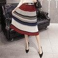 2017 Лето Женщины Vintage Ретро Цветочные Плиссированные Юбки Высокой Талией Середины Икры Шифон Мода Длинные Юбки