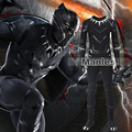 Captain America Civil War Black Panther Costume Cosplay Adult Men Whole Set Superhero Halloween Costume Custom Made Any Size