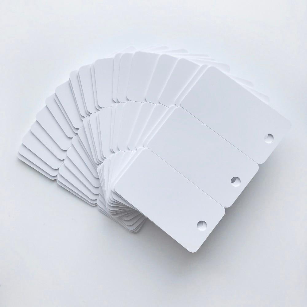 Printing by Epson or Canon Printer White Plastic Blank Inkjet Printable 3up PVC Card for Key Tag Membership Club Card 200X/lot