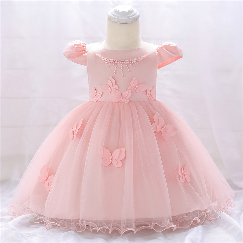 5a8926de0eac3 US $18.83 45% OFF|New Baby Girls Lace Dress Infant Baptism Clothing Newborn  Kids 1st Birthday Anniversary Celebration Dress Toddler Girls Dresses-in ...