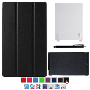 цена на Case for Sony Xperia Z3 Compact 8 Tablet PU Leather Smart Cover for Sony Z3 8 Compact Folio Folding Stand Funda