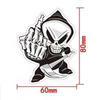 sticker motorcycle accessories New Arrival Car Sticker Cartoon Reflective Car Styling Sticker Motorcycle Car Decal Accessories 2082 (4)