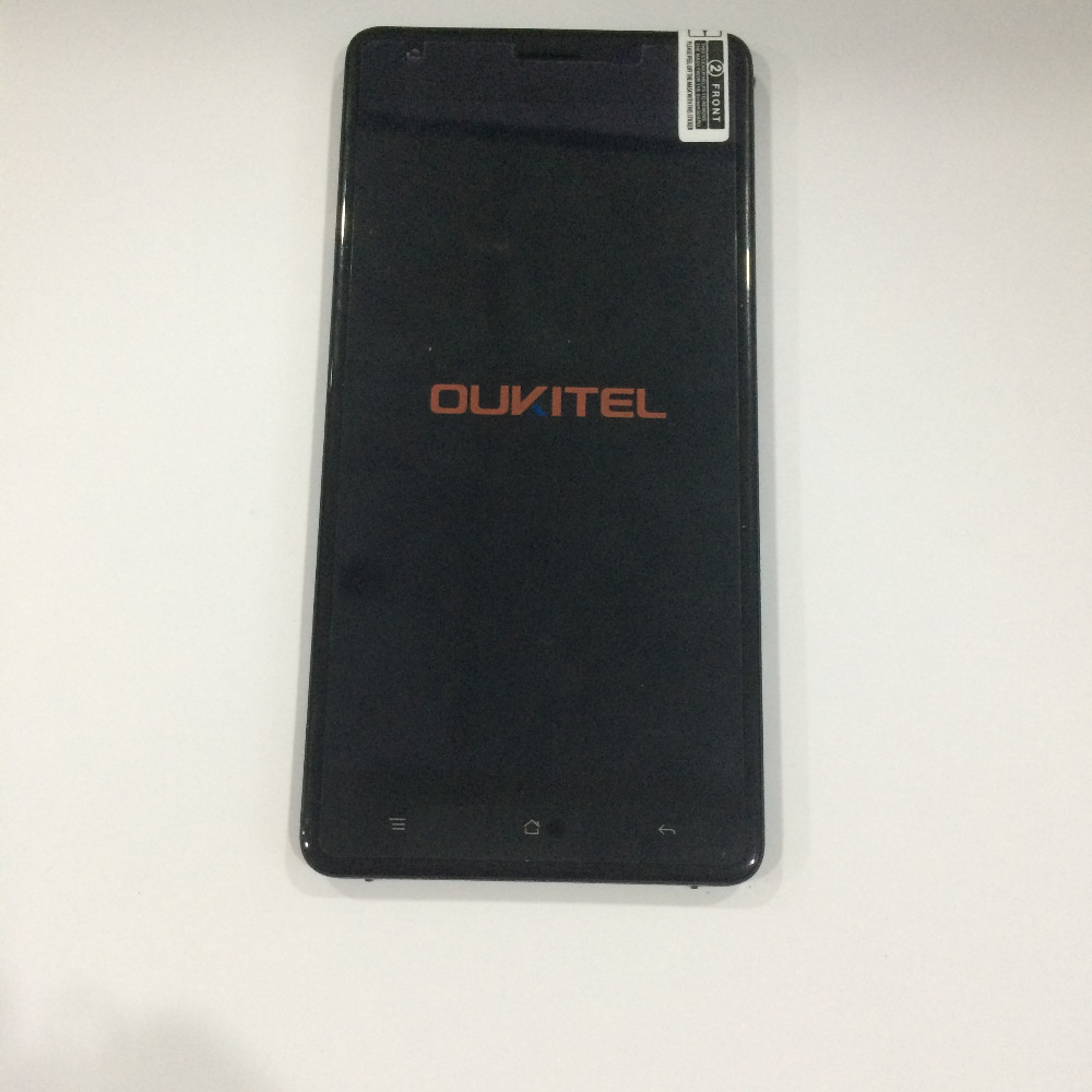 ФОТО Original Used Touch screen +LCD display + Frame For Oukitel K6000 Pro 5.5