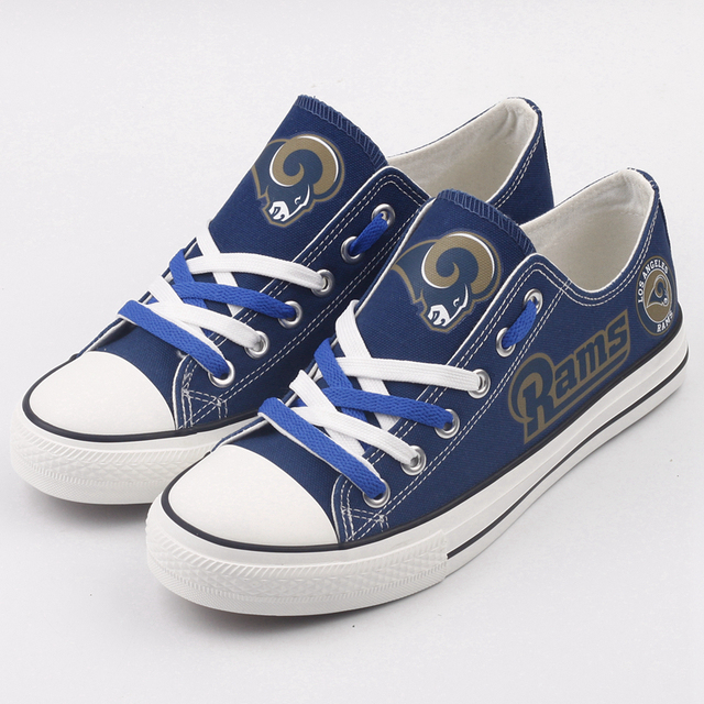 Los Angeles Team Logo Designer Canvas Shoes Custom Print Women Flats Lace-up  Casual Walking 1fc9ef1e009