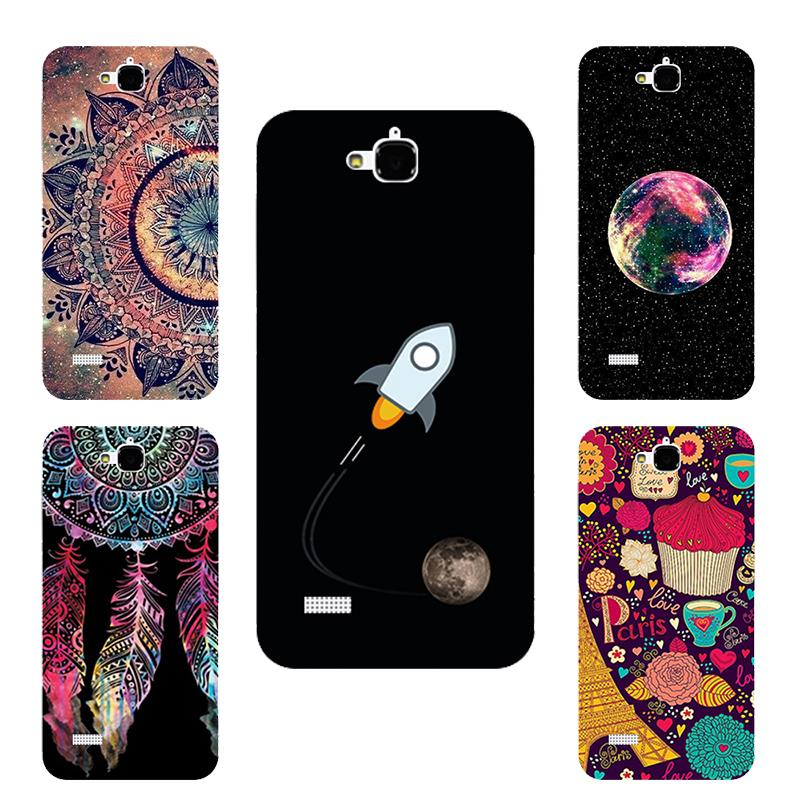 Brilliant Painting Stand Case For Huawei Honor 3C Beautiful Flowers Printing Color Scenery Space For HUAWEI Honor 3C case cover