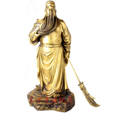 Really ancient copper ornaments knife bronze statue of Guan Gong Guan Fortuna Wu Guan Yu lucky opening housewarming gift