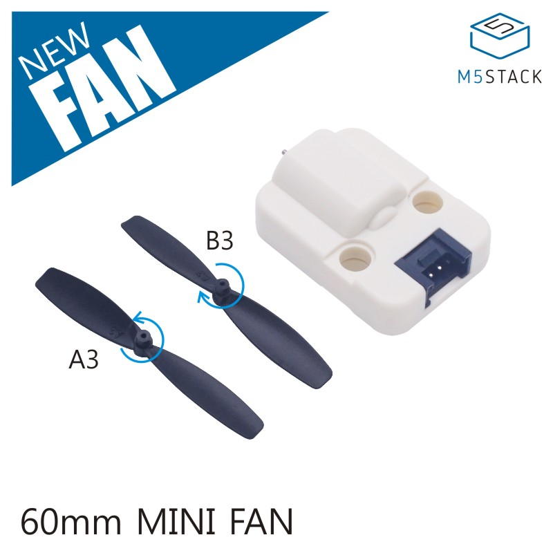 M5Stack Official Mini 60mm Fan Unit 5V-DC Single-Direction Rotation