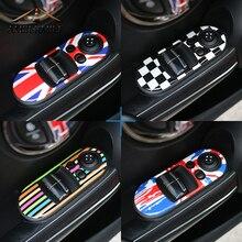 AMBERMILE 2 шт./компл. для Mini Cooper F56 аксессуары двери автомобиля Выключатель стеклоподъемник Управление Панель охватывает наклейки пропуск автомобилей Стайлинг