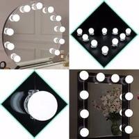 Mayitr Makeup Mirror Vanity 10 LED Light Bulbs Kit US Plug Mirror LED Light For Dressing
