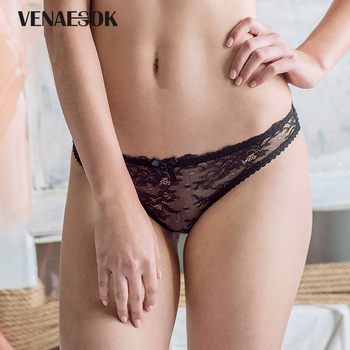 Young Girl Pink Lace Underwear Women Panties Transparent White Sexy Briefs Low-rise Floral Embroidery Brands Panty Plus Size XL sexy panti