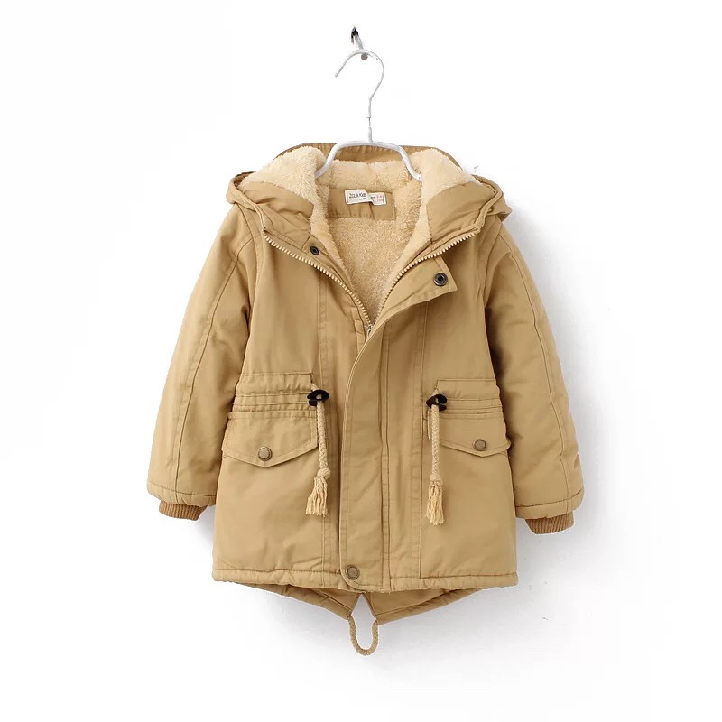 New winter children down & parkas 2-9Y European style boys girls warm outerwear color green blue hooded coats for girls 8