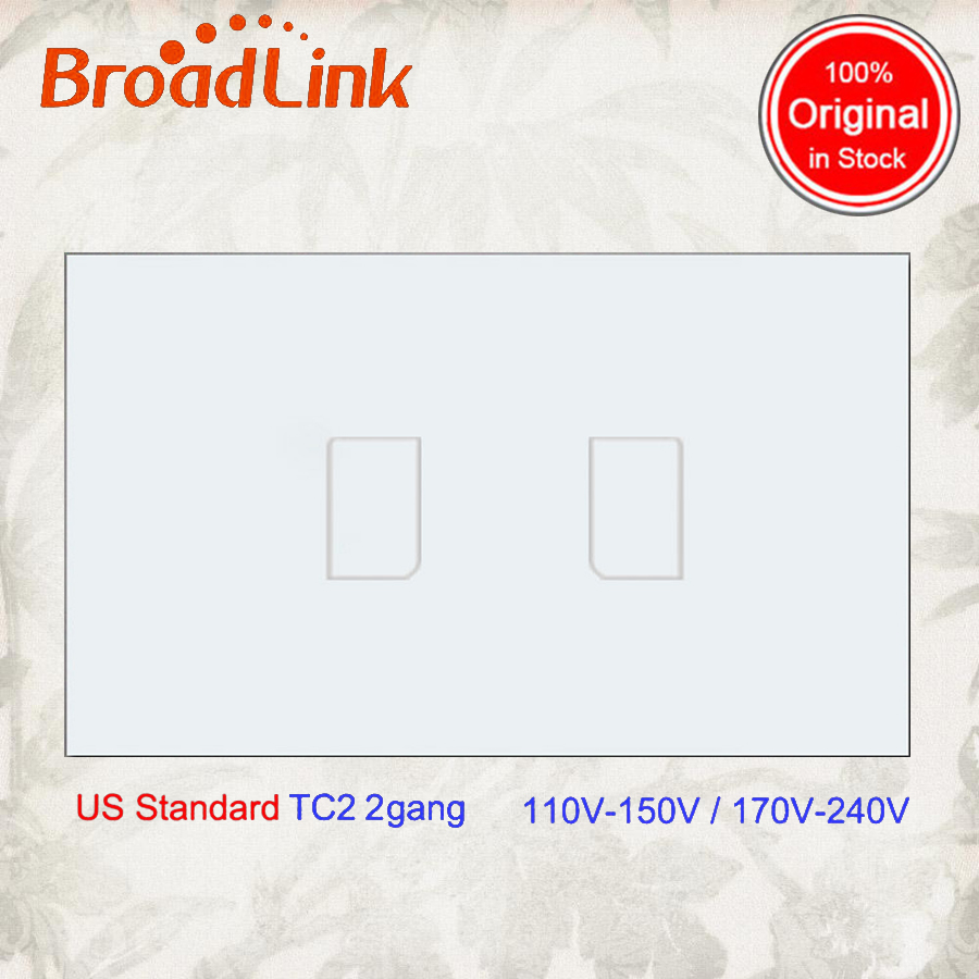 New Broadlink TC2,US Standard,2-,smart home Automation,cellphone Remote wireless control lamp light Switch By broadlink rmpro
