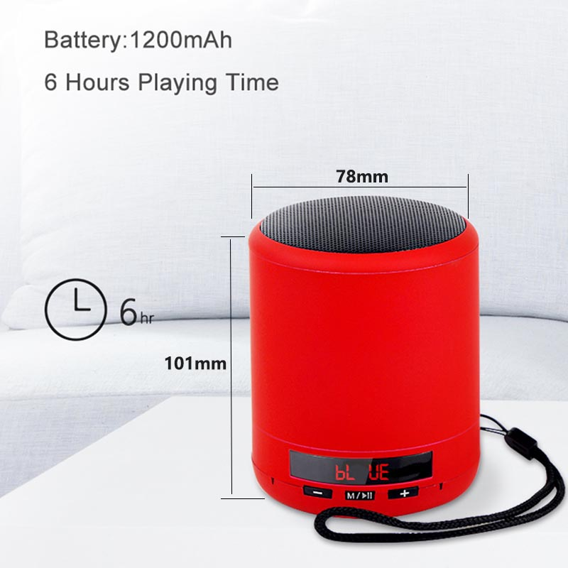 Portable Mini Wireless Bluetooth Speaker Player USB Radio Fm Mp3 Stereo Speaker