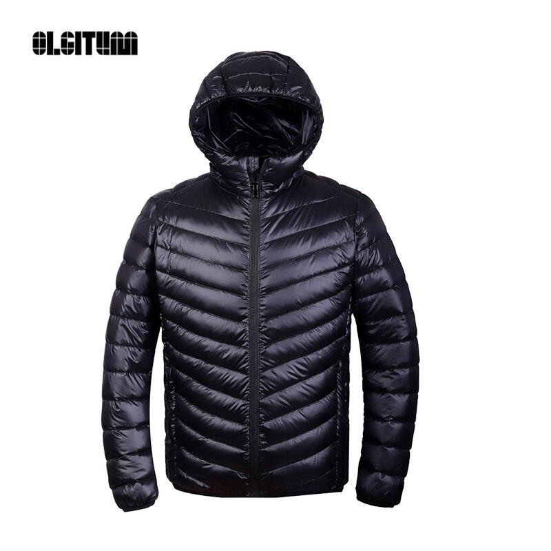 Зимние Для мужчин Сверхлегкий куртка 95% пуха Подпушка куртка Для мужчин Подпушка куртка на открытом воздухе воротником зимняя куртка пальто dp002