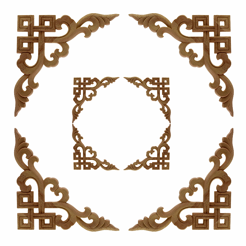 Vzlx Vintage Flower Pattern Wood Carved Unpainted Oak Round Onlay Lique Plaques Furniture For Home Decor Frame In From Garden On