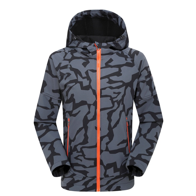 ФОТО men thermal fleece jacket waterproof hiking jacket mountaineering jacket windstopper softshell camping jackets