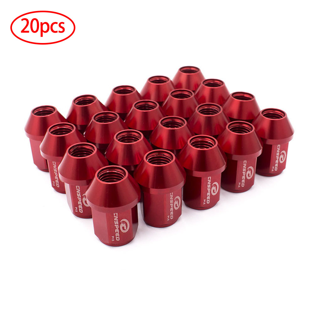 T39 Wheel Lug Bolt Nut Cap Center Cover with Removal Tool Pack of 20 Red