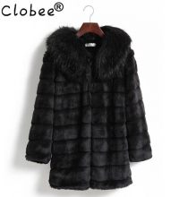 Vintage 2019 faux fur Coat female medium-long overcoat rabbit Sexy outerwear faux fur outerwear top fur fur coat Outerwear AB450(China)
