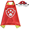 70*70 New Style Kids Superhero Dog Patrol Capes and Masks Children Halloween Christmas Party Costumes Cosplay and Birthday Gifts