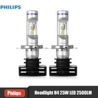 Original Philips Pair Of 12V 25W H4 Car LED Head Lamps 6000K Driver Cool White LED
