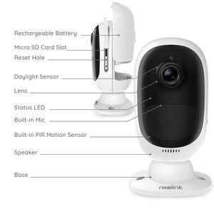 Image 2 - Reolink Argus 2 Full HD 1080P extérieur intérieur sécurité caméra IP Rechargeable alimenté par batterie Starlight capteur WiFi caméra