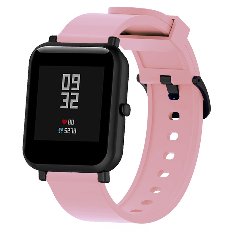 Image 4 - Silicone Sport Wrist Strap for xiaomi Huami amazfit Bip Smart Watch Strap 20mm Replacement Band Bracelet Smart Accessories-in Smart Accessories from Consumer Electronics