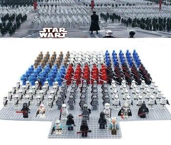 20pcslot Star Wars Mini toy STORM TROOPER CLONE TROOPER Set COMPATIBLE LEGOE Galactic Empire Battle Pack Blocks kid lego star wars stormtrooper army