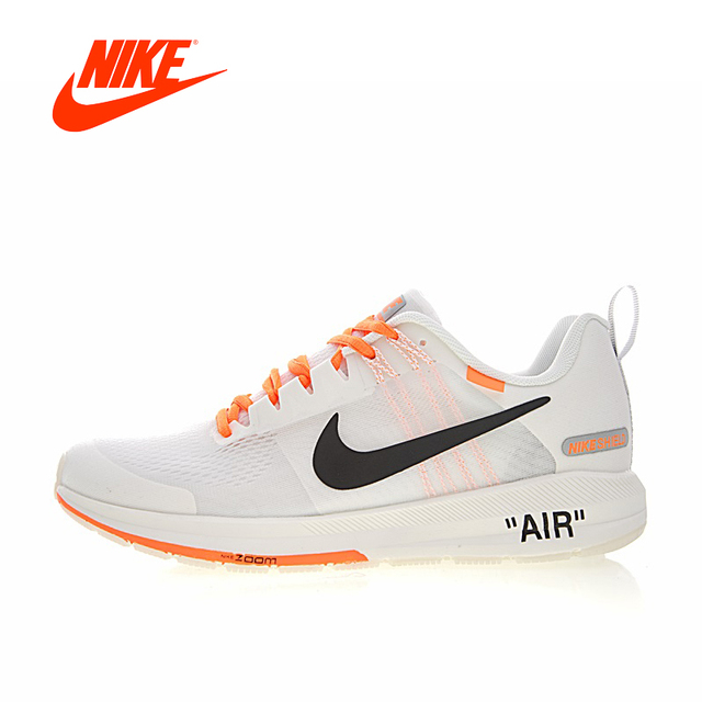 ac25b93ea987 Original Authentic OFF-WHITE x Nike Air Zoom Structure 21 Men s Running  Shoes Sneakers Outdoor Sports Low Top Designer 907324