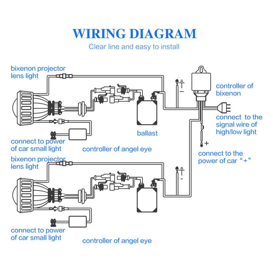 ronan xenon hid headlight relay wire harness controller for h4hi lo 9007hi lo  [ 930 x 930 Pixel ]