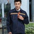 Conjunto de casaco + Calça primavera e no outono conjunto desgaste do trabalho da longo-luva masculino uniforme ferramental workwear a-010