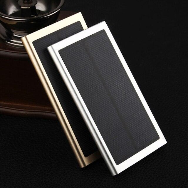 Солнечная Энергия Банк 20000 мАч Dual USB Порт Открытый Водонепроницаемый Power Bank телефон Внешний Батт Солнечное Зарядное Устройство Для Мобильных Телефонов