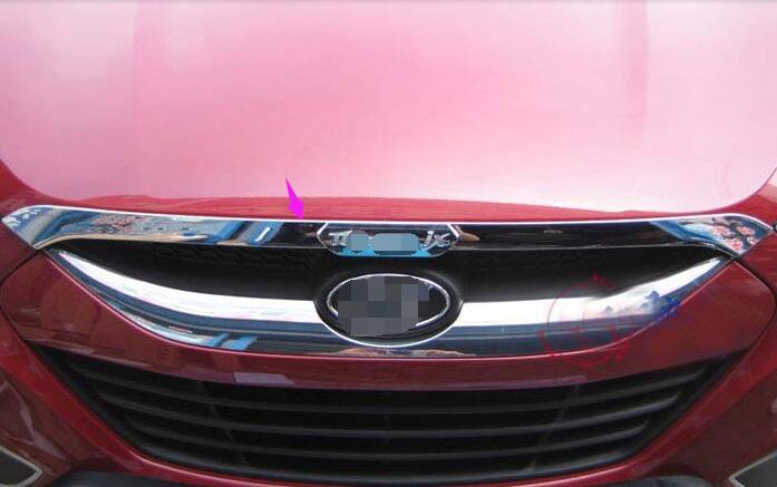 ФОТО  fit for Hyundai ix35 Tucson 2010 2011 2012 2013 Chrome Front Hood Trim