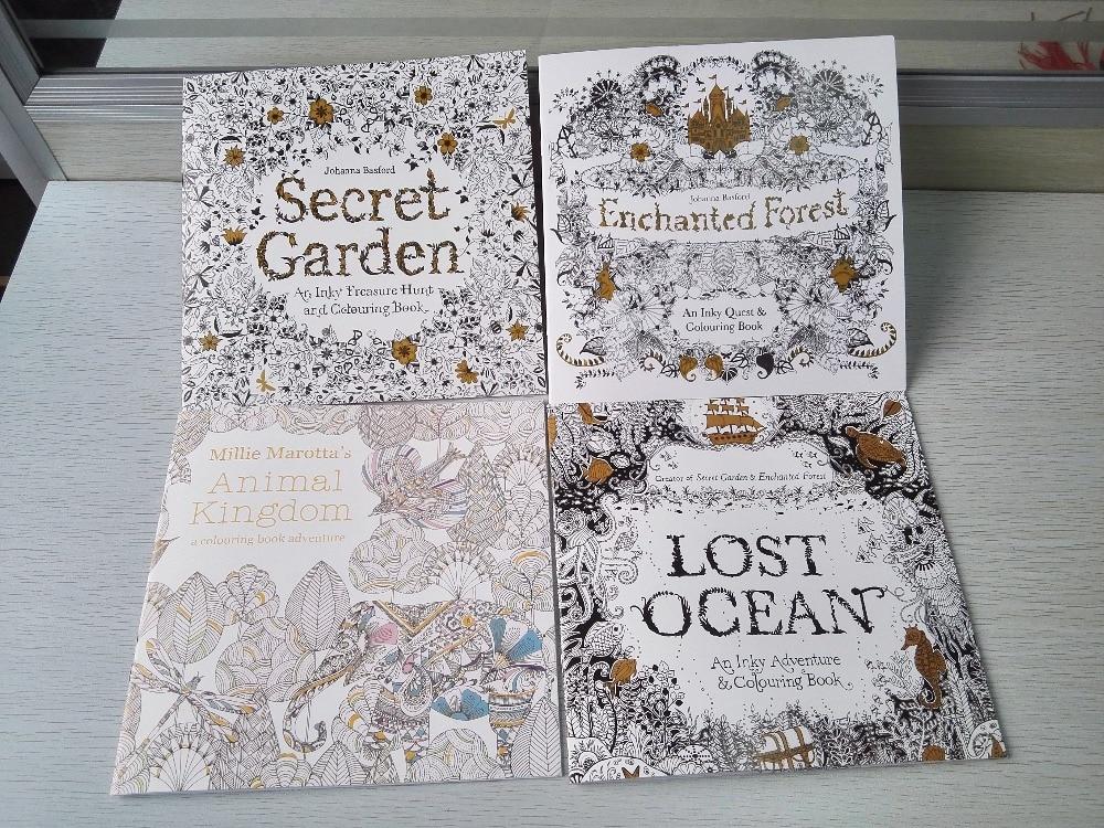 4 BOOKS/LOT English Edition Secret Garden + Animal kingdom+ ...