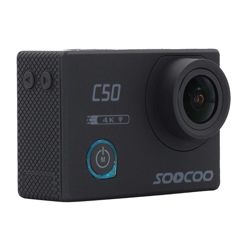SOOCOO C50 Sports Action Camera Wifi 4K Gyro Adjustable Viewing angles 12MP NTK96660 30M Waterproof Sport DV soocoo c30 sports action camera wifi 4k gyro 2 0 lcd ntk96660 30m waterproof adjustable viewing angles