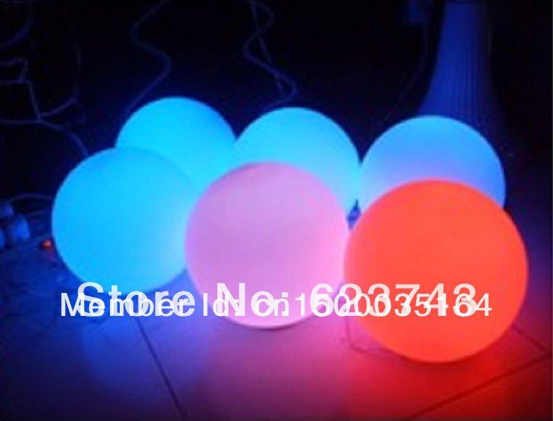 Волшебный RGB светодиодный шар наружный диаметр 25 см перезаряжаемый, светящийся шар, водонепроницаемый светильник для бассейна, меняющий цвет - 4