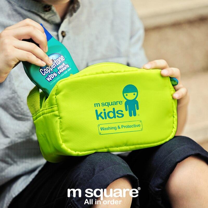 M Square Kids Travel Cosmetic Bag Organizer For Cosmetics Children Wash Makeup Bag Boy Girls Necessaries Cosmetic Bags Storage