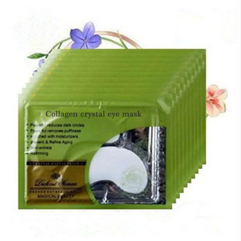 5Pair Collagen Crystal Eye Mask Eyelid Patches for Eyes Care Moisture Anti-Wrinkle Beauty Gel Eye Mask Patch Remove Dark Circles mabox natural eye gel for appearance of dark circles puffiness wrinkles and bags for under and around eyes eye gel essence gel