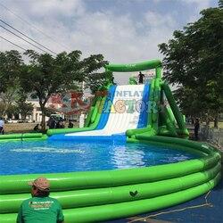 Vietnam Riesigen kommerziellen aufblasbare wasser rutsche Regierung Aktivität unterhaltung aufblasbare wasser slip n slide