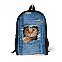 Customized Primary School Bag Kawaii Cat Prints Schoolbags for Teenage Girls Children School Bags Kids Bagpack Mochila Bag