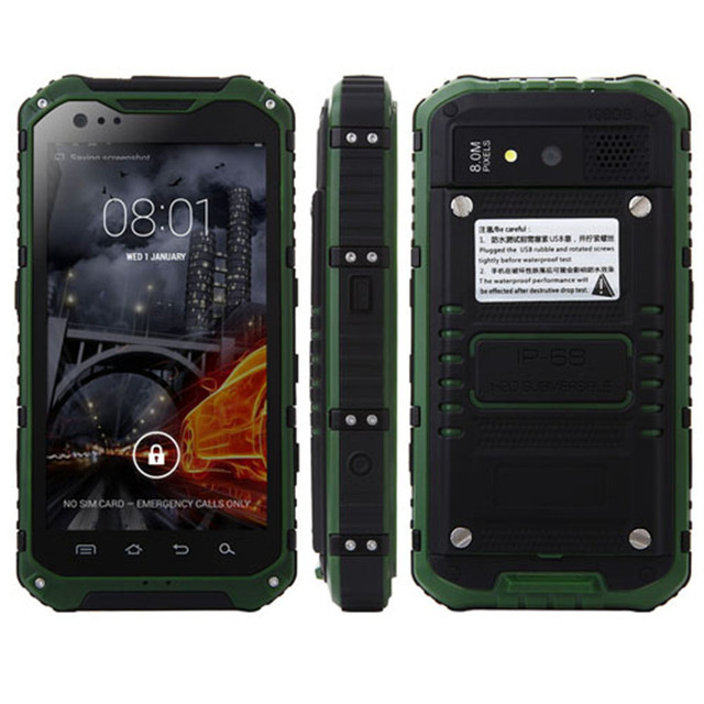 R$ 747 73 |2016 Original ALPS A9+ IP68 Waterproof Mobile Phone Shockproof  MTK6582 Octa Core 1 7GHz Android 4 4 Smartphone 2GB RAM 16GB ROM em