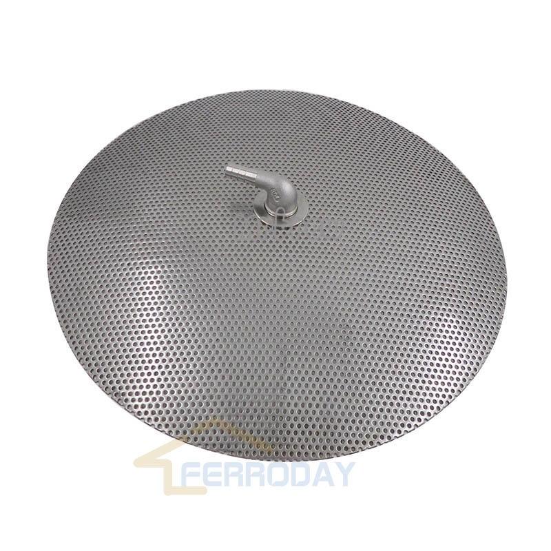 12 Stainless Steel Domed False Bottom Hopback, for HomeBrew Domed False Bottom w/ 3/8 Barb Fittings & 1/2 Lock Nuts ,All Gr