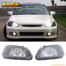 Для 99-00 Honda Civic EK JDM черный корпус фары лампы 2 3 4Dr США Внутренние Бесплатная доставка