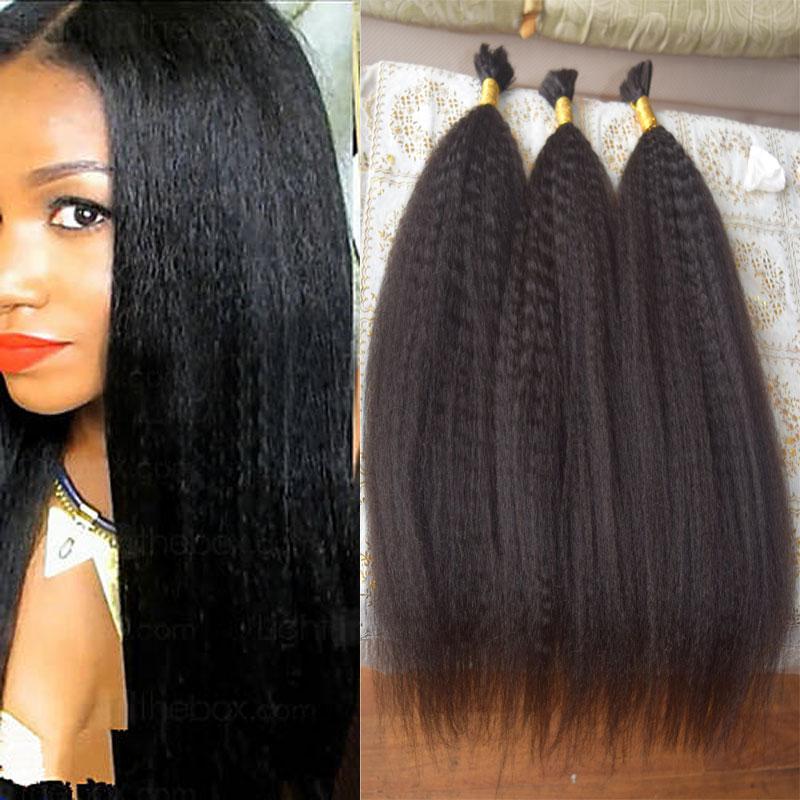 Grade 7A Indian Virgin Hair Human Braiding Hair Bulk No