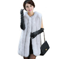 genuine fox fur coat women's long Luxurious fox fur jacket full leather blue fox fur vest winter coat Free Shipping EMS