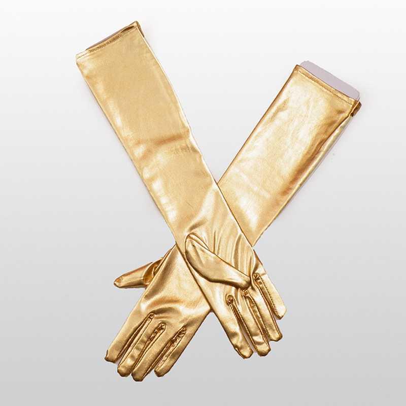 Sexy imitation Leder Shiny Lange Handschuh Punk rock Handschuhe Hüfte pop Jazz disco Latex Handschuhe Clubwear polo dance Cosplay Kostüme