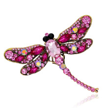 Hot Sale Crystal Rhinestone Dragonfly Brooch For Women Dress Scarf Enamel Brooch Pin badge Femme Gift insect Jewelry Accessories