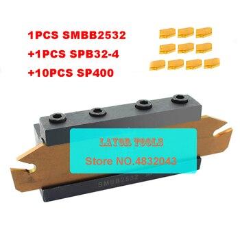 25mm petiole SPB32-4 1pcs+SMBB2532 1pcs+ SP400 NC3020/NC3030 10pcs=12pcs/set NC3020/NC3030 Machining steel CNC lathe tool