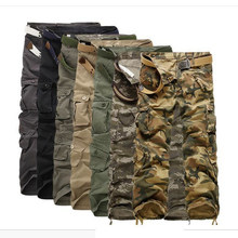 Hot sale!!!New Mens Casual Cargo Pants Military Army Cargo Camo Combat Work Pants Loose males's informal Joggers Baggy Trousers